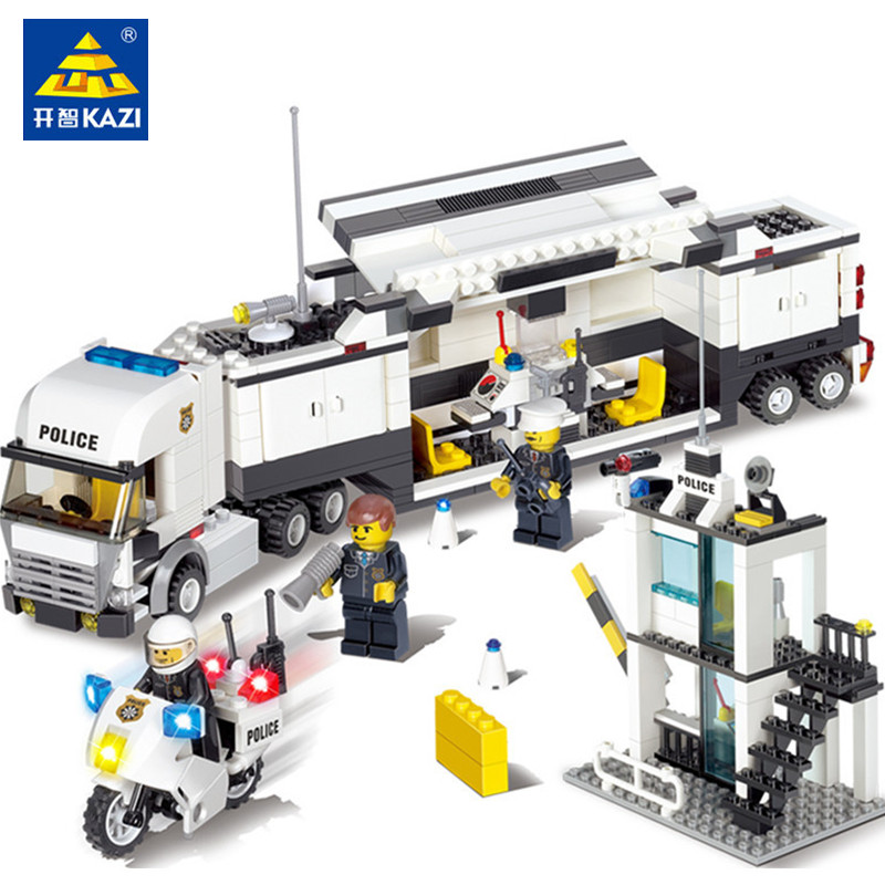 KAZI 6727 Police Station Building Blocks  Bricks Educational Toys Compatible with all brand city Birthday Gift Toy BrinquedosKAZI 6727 Police Station Building Blocks  Bricks Educational Toys Compatible with all brand city Birthday Gift Toy Brinquedos