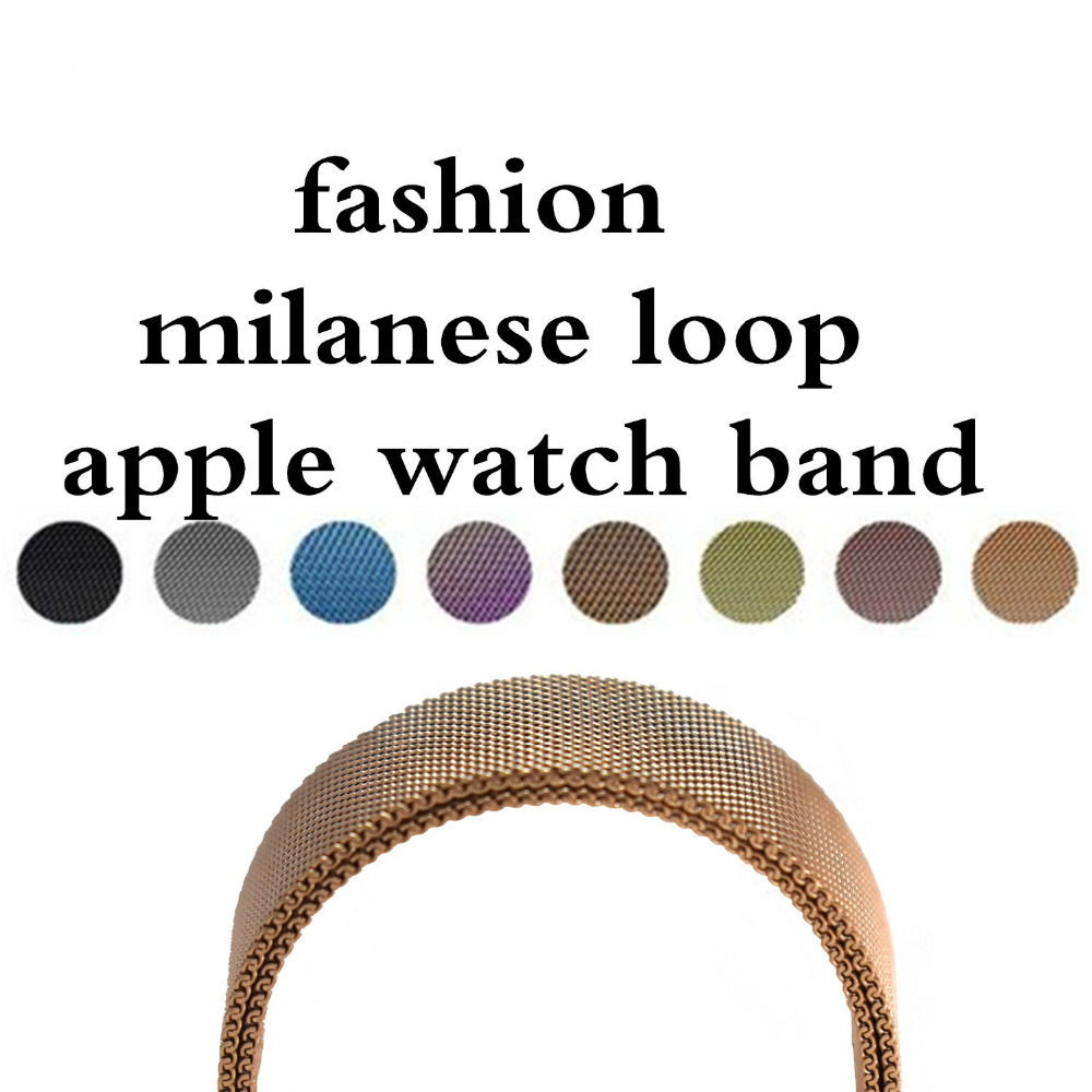 Fashion Milanese Loop Strap & Link Bracelet Stainless Steel Band for Apple Watch Band 42 mm/38 Bracelet Wristband for iwatch 1 2 crested milanese loop strap metal frame for fitbit blaze stainless steel watch band magnetic lock bracelet wristwatch bracelet