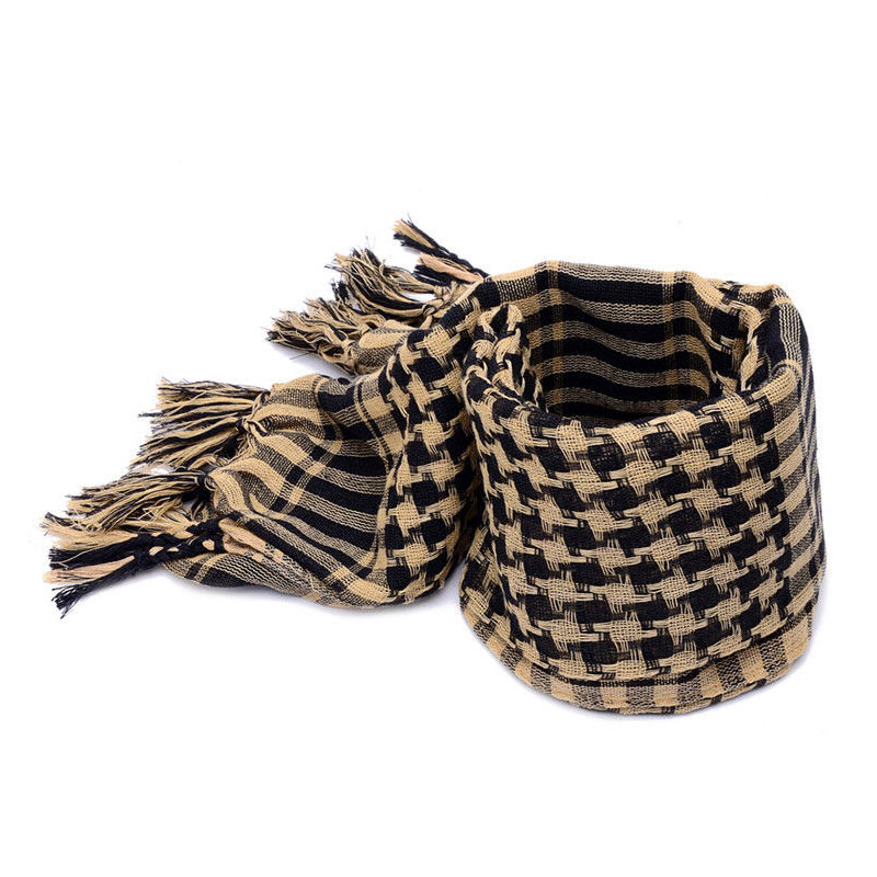 Arab Scarves Men Winter Military Windproof Scarf 100% Cotton Thin Muslim Hijab Shemagh Tactical Desert Arabic Scarf
