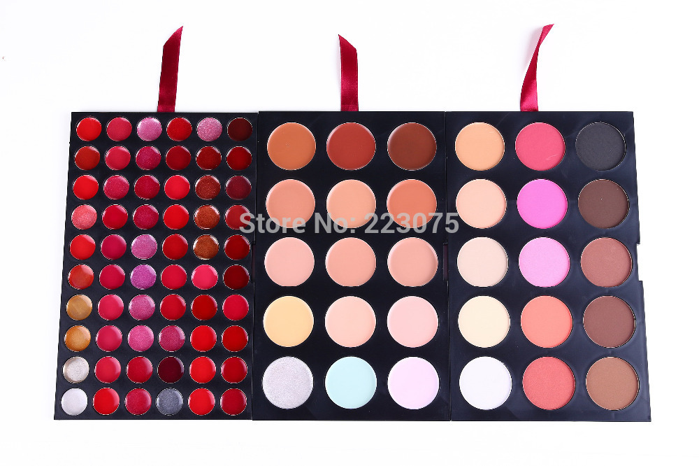 ФОТО Pro 90 colors Makeup Pallette 15 Blush 15 Concealer Camouflage 60 Lip Gloss Kit Beauty Cosmetic