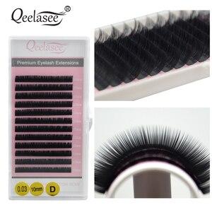Image 2 - Qeelasee 20 sztuk/partia mink przedłużanie rzęs fałszywe rzęsy fałszywe indywidualne rzęsy premium mink rzęsy rzęsy makijaż rzęsy