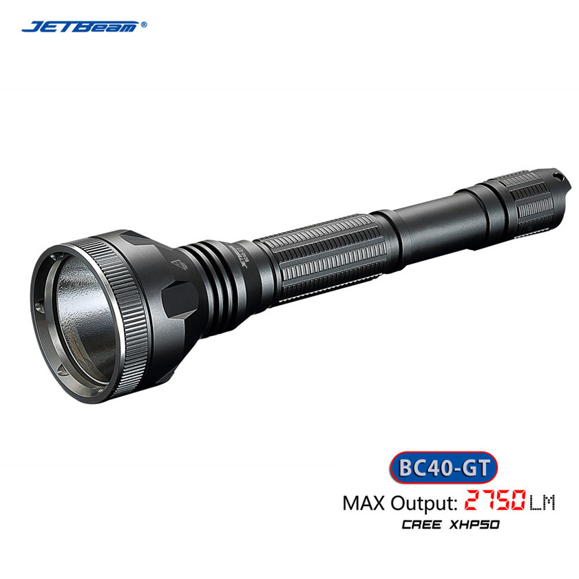 Super Jetbeam BC40GT Flashlight / Searchlight -2750Lm -CREE XHP50 LED Flashlight rechargeable super led cree flashlight jetbeam mini 1