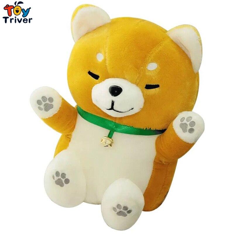 1pc Japan Amuse Fortune Lucky Cat Shiba Akita Inu Dog Plush Toy Stuffed Doll Kids Birthday Gift Shop Home Decor Maneki Neko