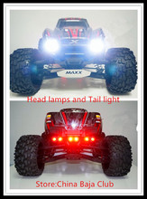 RC Parts,TRAXXAS X-MAXX LED Headlamps Taillight Set Including head light bracket and switch