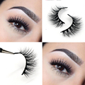 Free Shipping 1pcs/lot D061 100% real siberian 3d mink fur strip false eyelash long individual eyelashes mink lashes extension