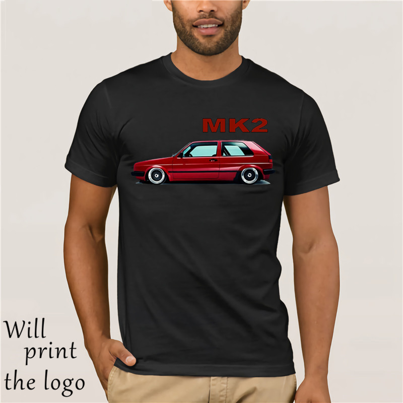 T-Shirt White Germany Classic Legend Car Golf Red Mk2 Summer 2018 Cotton Men Fashion Style Fitness Brand Movie T Shirt image