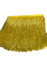 gold color Handmade 15cm wide beaded fringe trimming,5.5yard, about 270 beads threads/yard