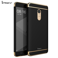 Ipaky Brand Case For Xiaomi Redmi Note 4X Mobile Phone Cover Plating 3 In 1 PC