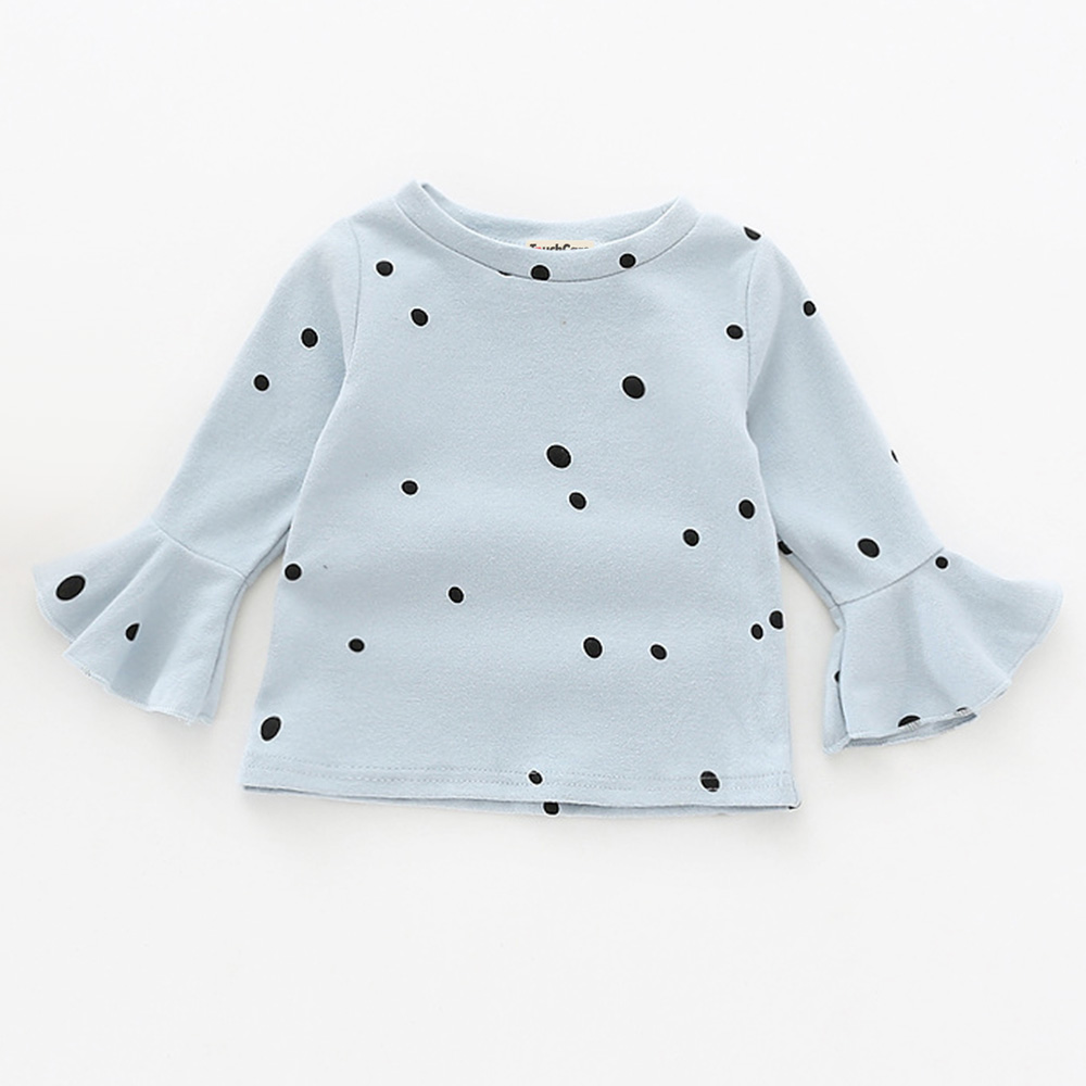 Touchcare-Lotus-Leaf-Sleeve-Baby-Girl-T-Shirts-Solid-White-Pink-Yellow-Colors-Dots-T-shirt-Autumn-Cotton-Baby-Girl-Clothes-3