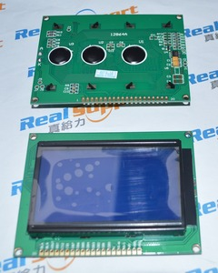 12864A without font 93*70 12864 KS0108 LCD 128*64 12864 Blue / Green