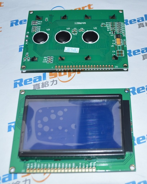 12864A yazı tipi olmadan 93*70 12864 KS0108 LCD 128*64 12864 mavi/yeşil