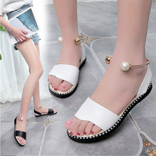 Dwayne Shoes Women For 2019 New Comfortable Flat With Gladiator Ornament Sandals Summer Femme Beach