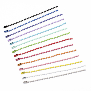 1Pack 12CM length Colorful Ball Bead Chains Fits KeyRing/Key Chain/Dolls/Label Hand Tag Connector DIY Jewelry Making(China)
