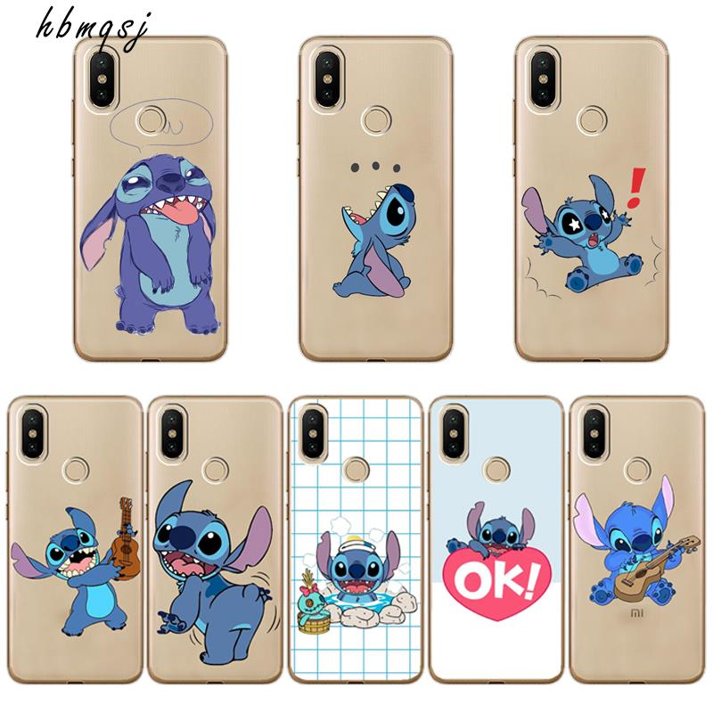 Cartoon for xiaomi <font><b>mi</b></font> a1 a2 5x 6x 8 <font><b>8se</b></font> mix 2 2s <font><b>case</b></font> silicone soft tpu cute funny stich cool for <font><b>mi</b></font> a2 lite phone back <font><b>case</b></font> image