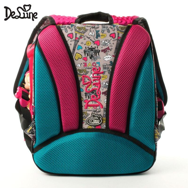 Delune Kids 7-125 sac à dos orthopédique étanche dessin animé Design ergonomique cartable de haute qualité enfants filles garçons sacs d'école - 2
