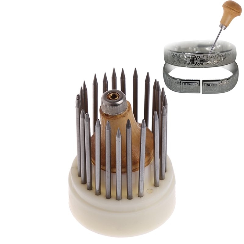 23 Pcs Beading Grain Jewellery Tool Diamond Stone Beader Set Graver #Y51#