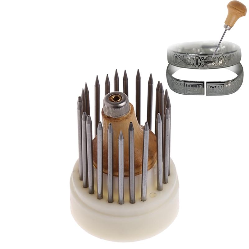 23 Pcs Beading Grain Jewellery Tool Diamond Stone Beader Set Graver #Y51#