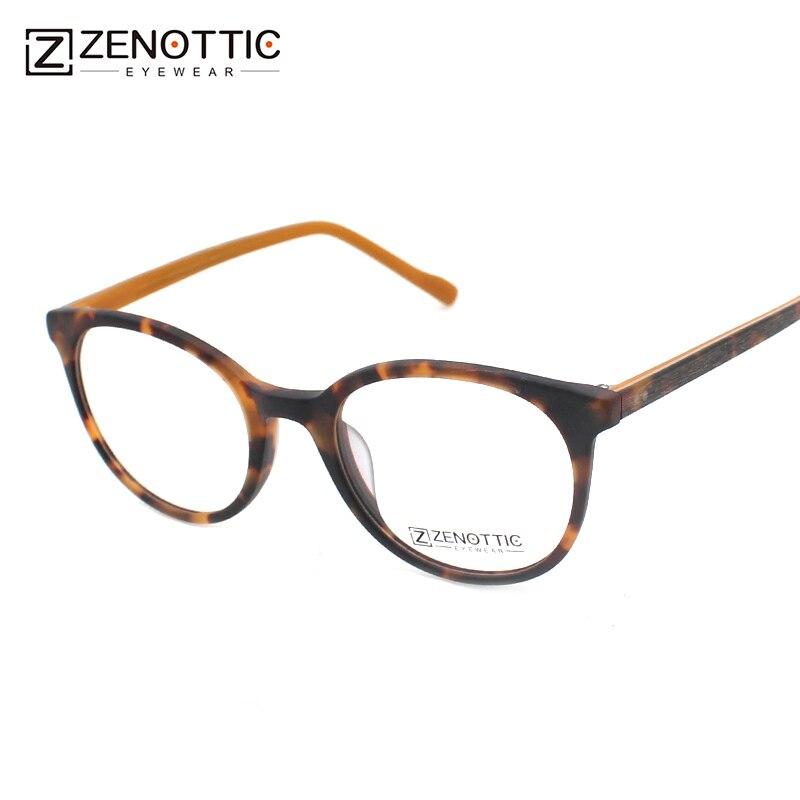 ZENOTTIC Designer Brillen Rahmen Frauen Leopard Acetat Runde Brille ...
