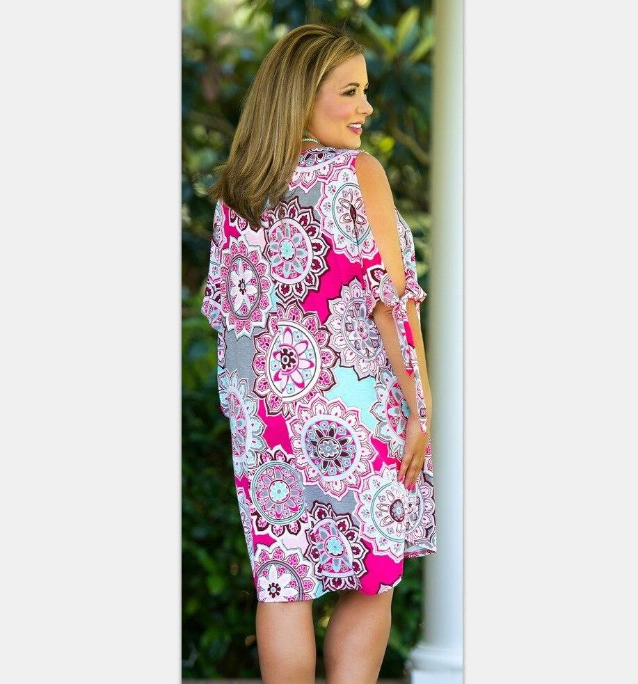 2019 Spring Summer Dresses Women's Cotton Plus Size Bandage Dress Sexy Party Off Shoulder O Neck Knee Dress Large Size XL-6XL 1