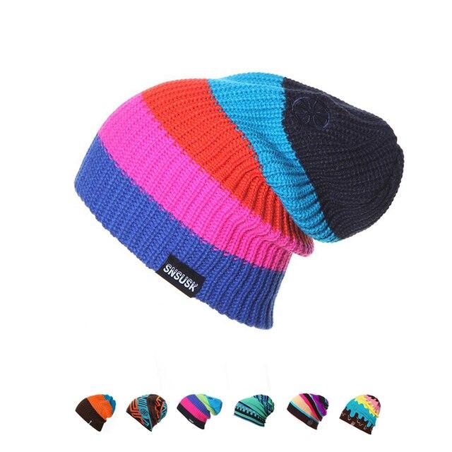 Unisex marca de esquí invierno cálido tejer patinaje cráneo gorra sombrero  gorros tortuga gorra de esquí 2e14d3af0bd