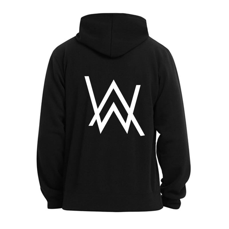 Winter Fleece Sweatshirt Alan Walker Faded Hoodie Men Sign Printing Hip Hop Rock Star Sweatshirt Fleece Band Hoodies Men