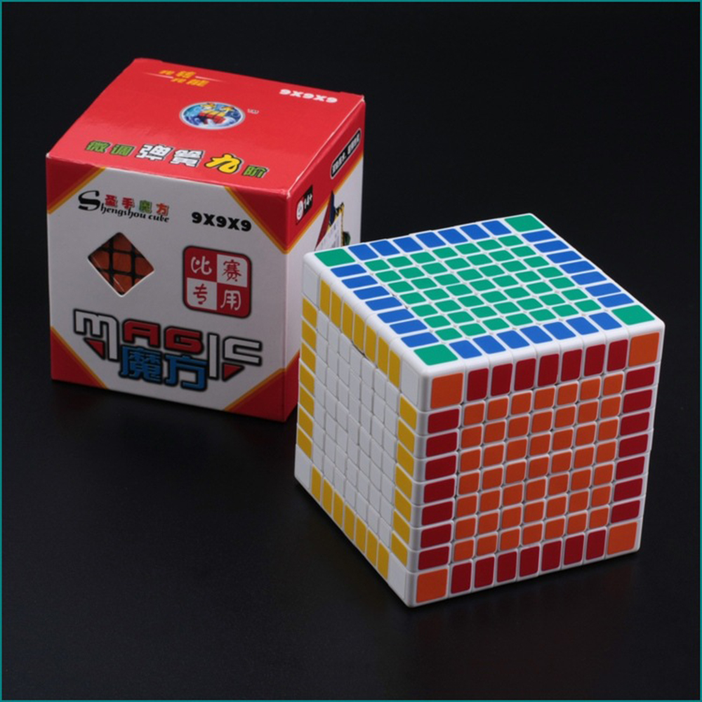 9*9*9 White Professor Rubiks Cube Competition Speed Magic Cube Puzzle Educational Toys for Children