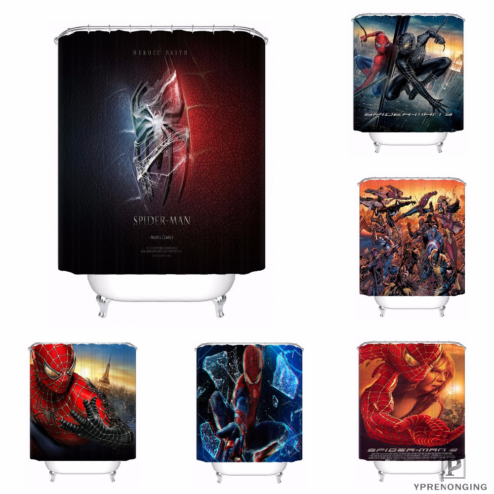 Custom Deadpool Anime Marvel Hulk Waterproof Shower Curtain Home Bath Bathroom s Hooks Polyester Fabric Multi Sizes#0421-Sina-13