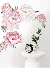 Decorative sticker for wall. Peony Flowers.