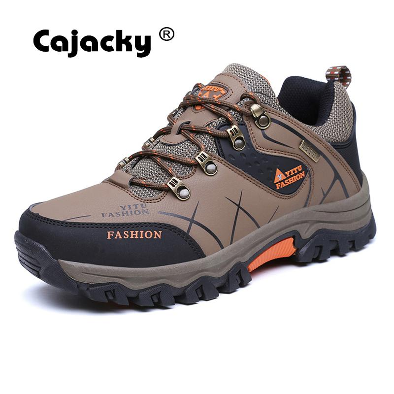 Cajacky Men Casual Shoes Autumn Winter Men Shoes Big Size 47 46 Male Outdoor Casual Shoes Protection Ankle Shoes Waterproof New