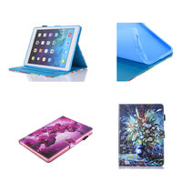 Cute Cartoon Flip PU Leather With Soft TPU Back Case Cover Kids For Apple Ipad Mini