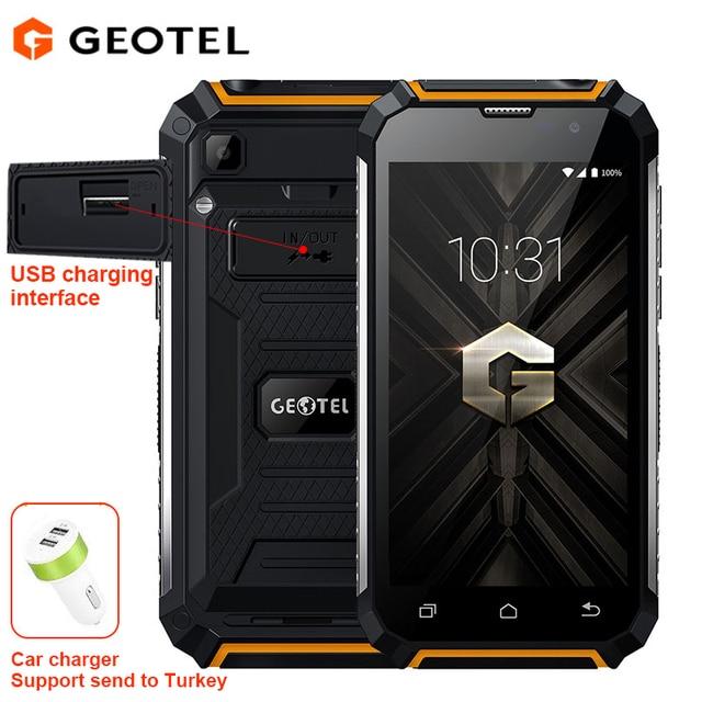 Geotel G1 Запасные Аккумуляторы для телефонов мобильный телефон Andriod 7.0 MTK6580A Quad Core 2 ГБ Оперативная память 16 ГБ Встроенная память 8.0MP Камера 7500 мАч большой аккумулятор 3 г смартфон