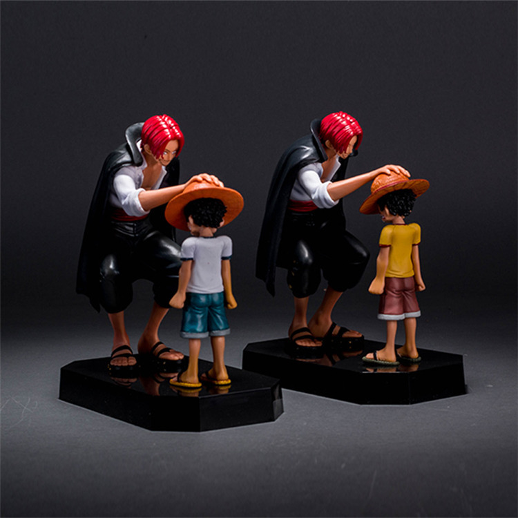 10-16cm One piece Luffy Shanks Action Figure PVC Collection Model toys brinquedos for christmas gift free shipping
