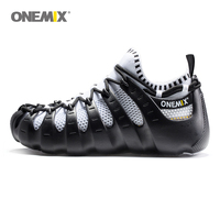 Onemix Rome shoes gladiator set shoes men & women running shoes jogging sneakers outdoor walking shoes sock like sneakers 1230