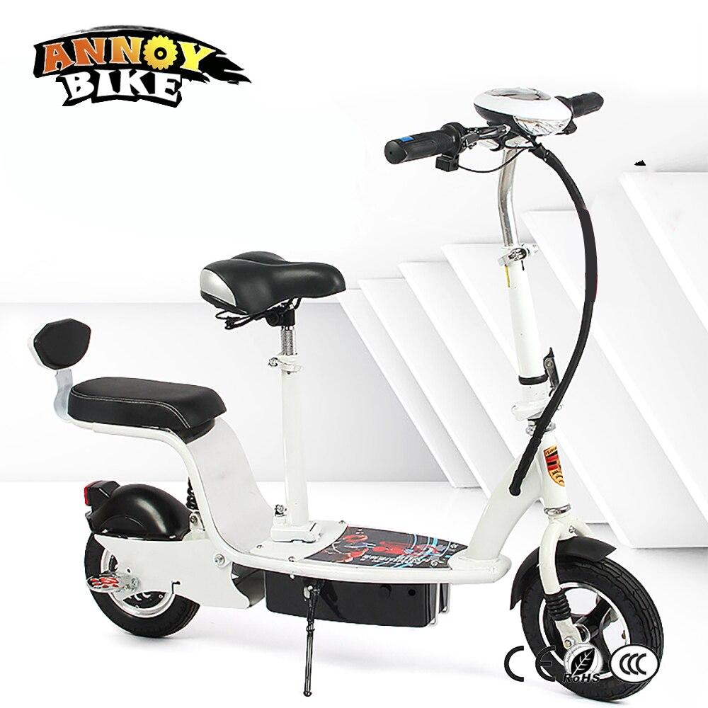 Pieghevole Bicicletta Elettrica 24 v 36 v 48 v 350 w Per Adulti Ammortizzatore Sedile Ebike Moto Scooter Batteria Al Litio