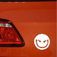 black silver 12.9*13CM Car Accessories Evil Smiley Happy Face Vinyl Car Decal Auto Truck Window Decor Auto Sticker Black/Silver (3)