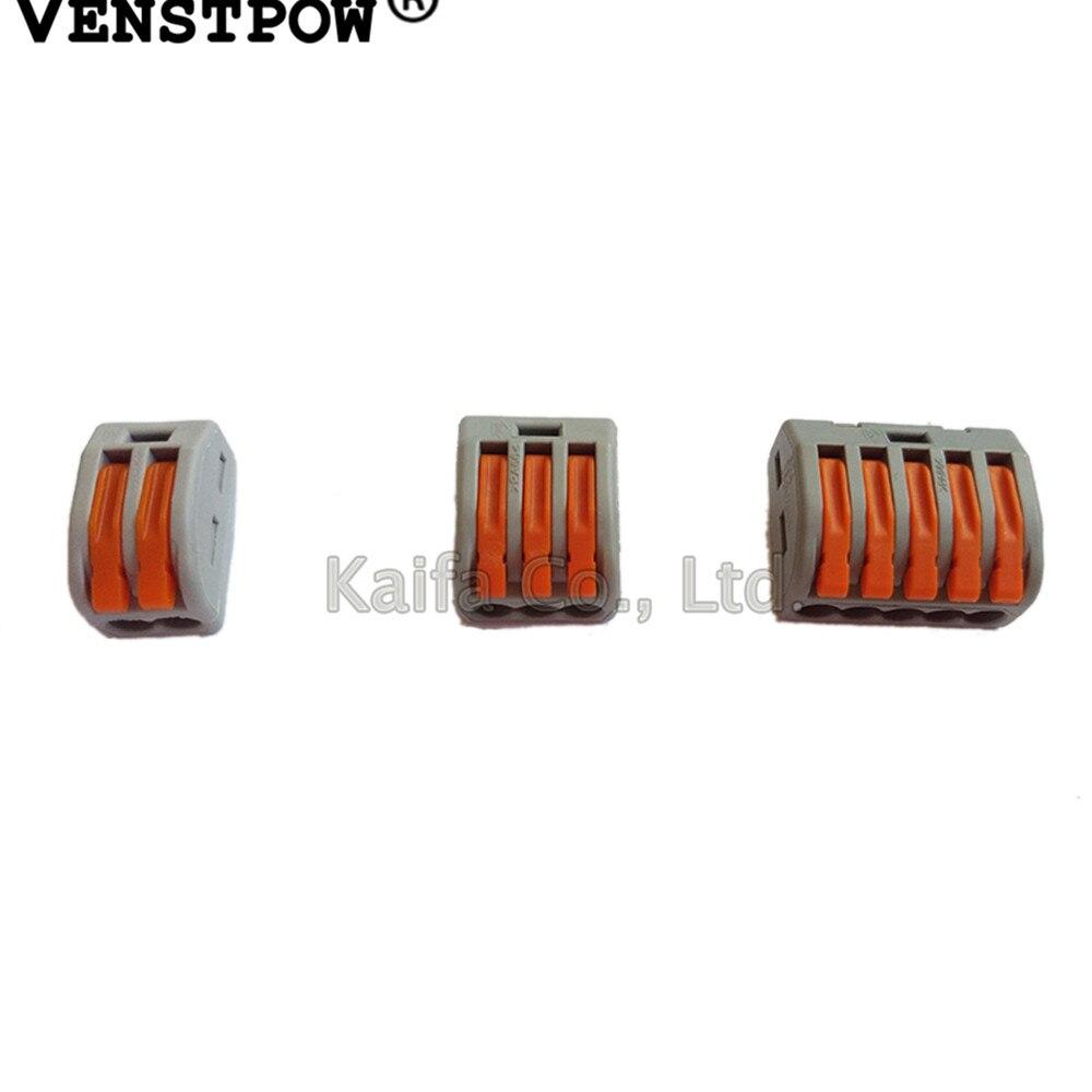 Tipo 10 pcs Wago 222-412 (PCT212) 413 415 Universal Compact Fio Fiação do  Conector Condutor Terminal Block Com Lever 0.08-2.5mm2 762993b604