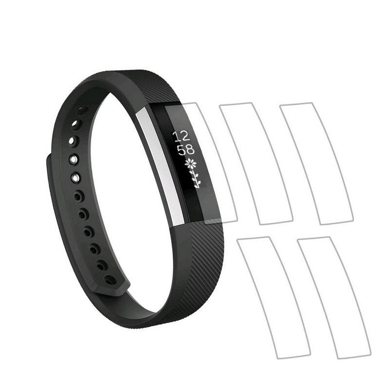 5pieces Ultra Clear HD Soft Protective Film Guard For Fitbit Alta / Alta HR Band Display Protection Full Screen Protector Cover