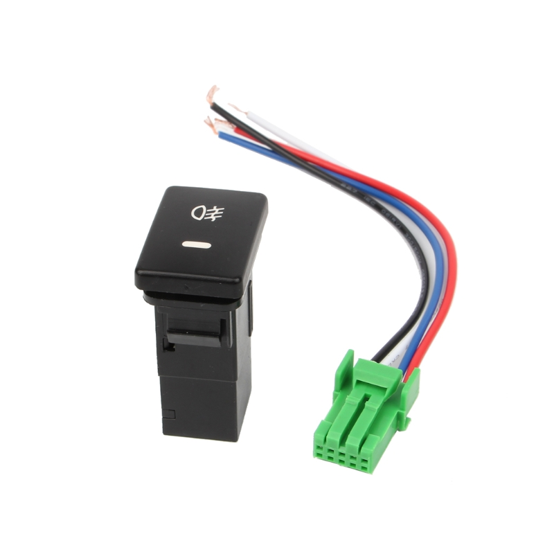 US $1.34 28% OFF|Yellow/Green Rear Fog light Push Switch 4 Wire on on