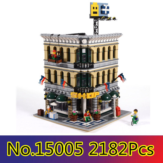 CX 15005 2182Pcs Model building kits Compatible with Lego 10211 City Grand Emporium 3D Bricks figure toys for children