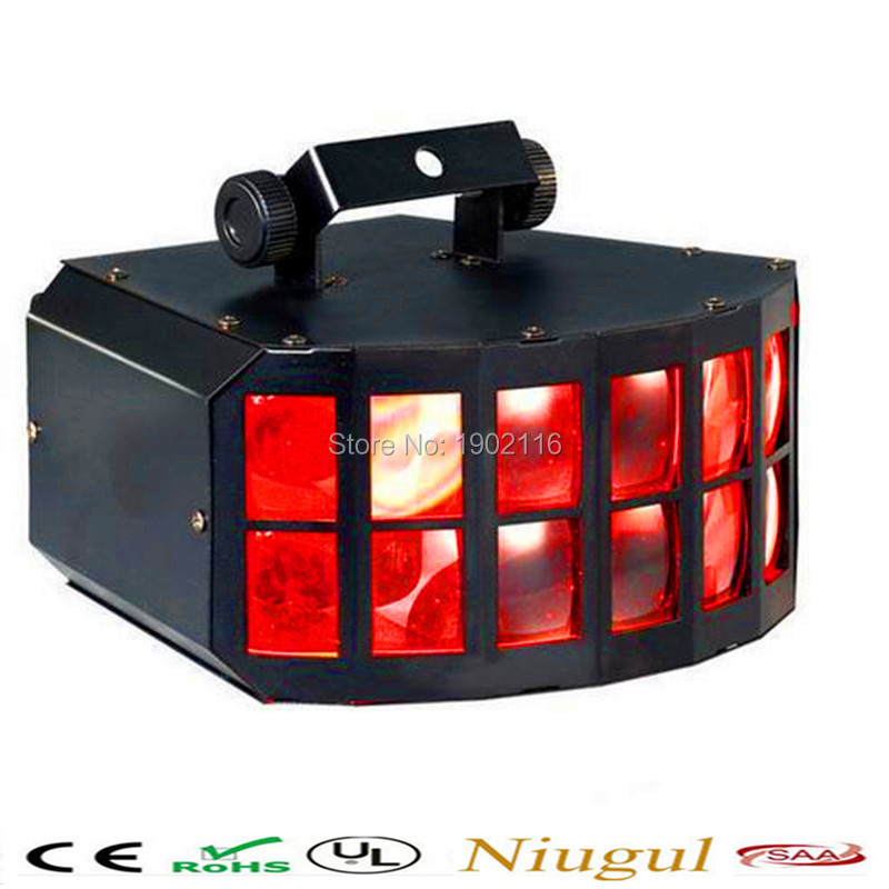Free shipping LED Double Butterfly 4in1 LED stage effect lights Party Disco DMX512 led light Stage Lamp DJ Equipment ktv lights niugul dmx stage light mini 10w led spot moving head light led patterns lamp dj disco lighting 10w led gobo lights chandelier