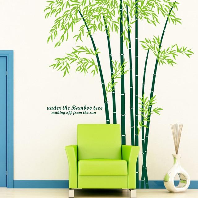 Super Groothandel ikea stijl tv sofa grote muurstickers bamboe @AZ97