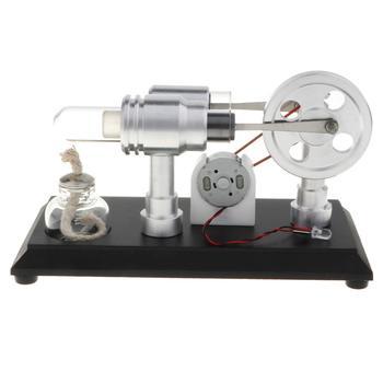 Generatore Di Motore Stirling | LED Motore Stirling Motor Generator Modello Fisica Esperimento Di Energia Elettrica Science Learning Giocattoli Educativi Forniture Di Laboratorio