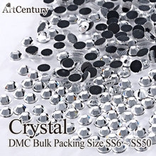 Factory Price Bulk Packing 500 Gross SS10 Glass Material Crystal DMC Hotfix  Rhinestones 647a3a401609