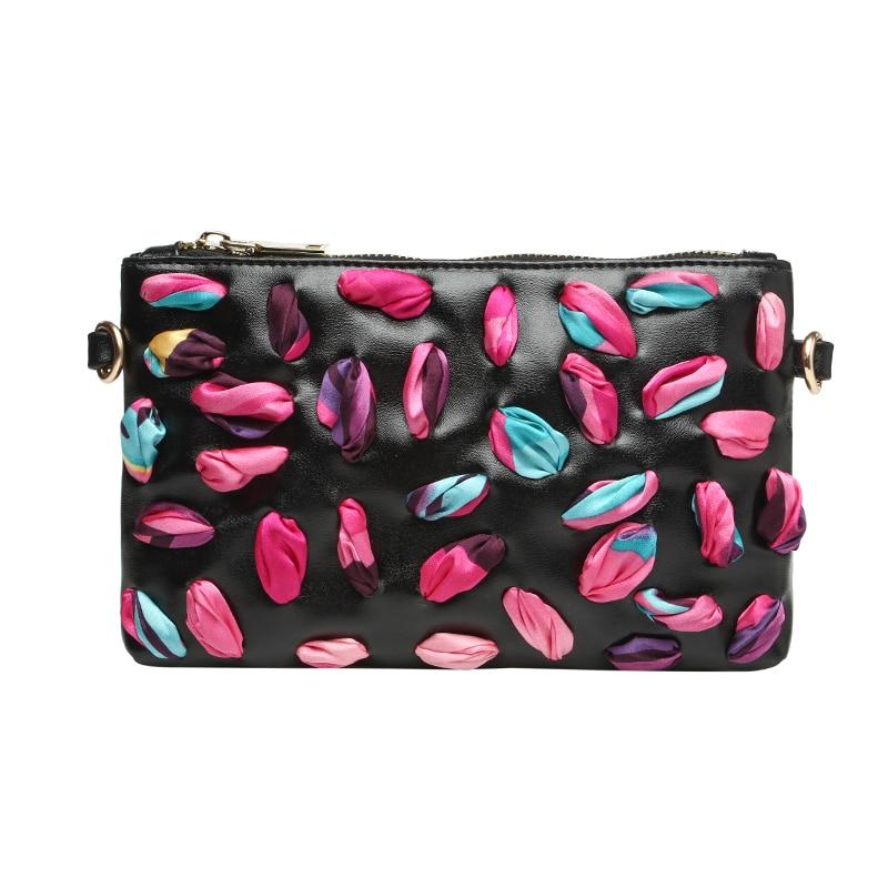 ФОТО 2017 fashion shoulder bag women leather handbags scarves mosaic day clutches bolsa feminina messenger bags women bag