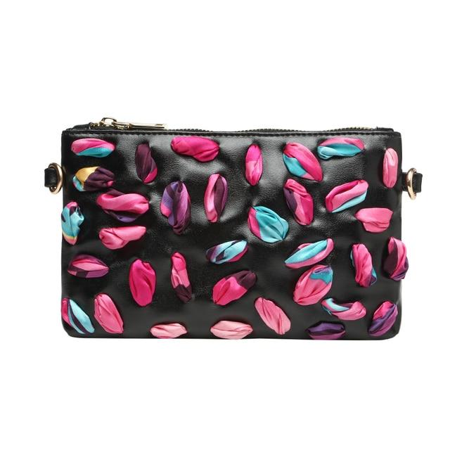 2017 fashion shoulder bag women leather handbags scarves mosaic day clutches bolsa feminina messenger bags women bag