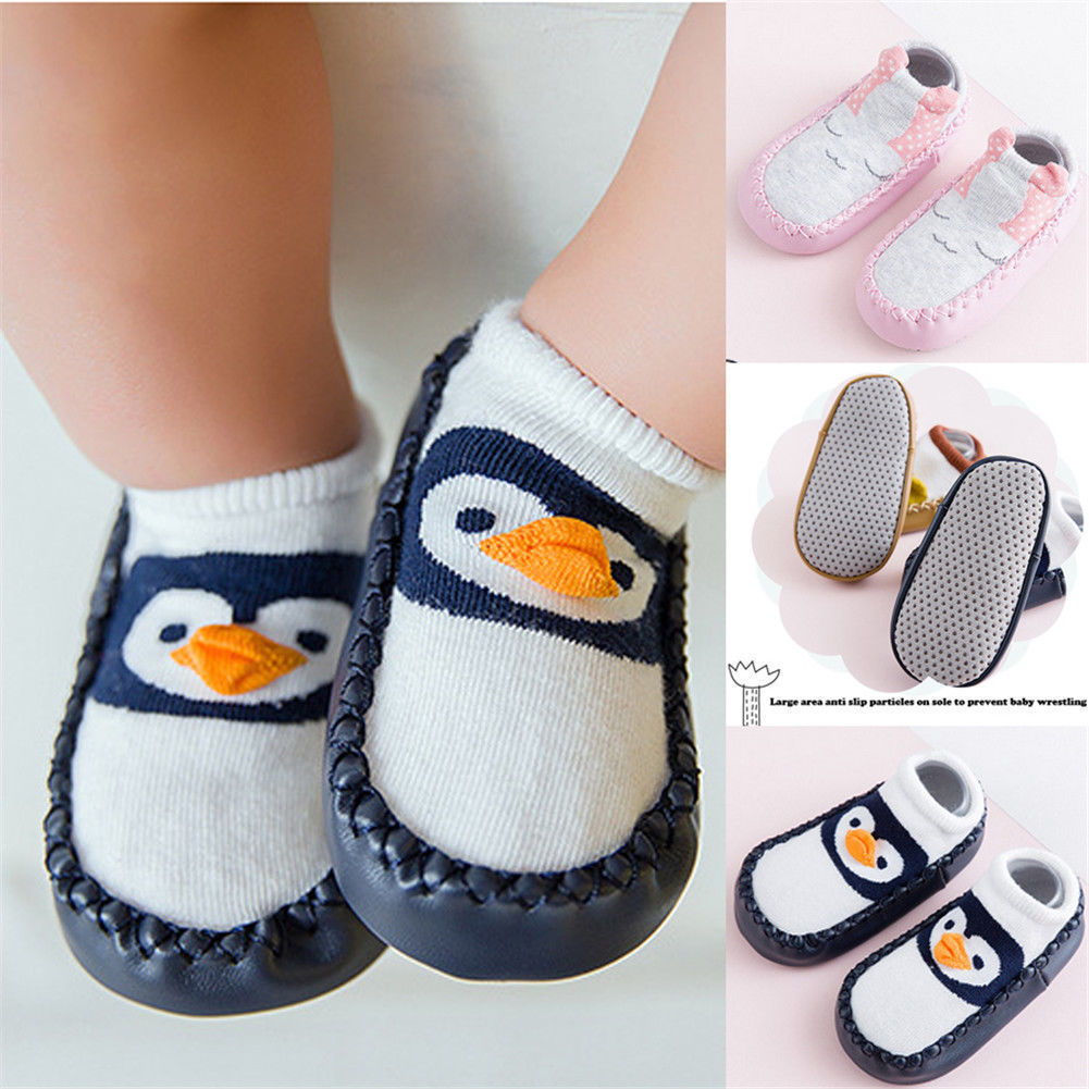 0-3 T Infant Neugeborenen Kinder Baby Jungen Mädchen Kind Socke Laufende Schuh Cartoon Nettes Kind Anti-slip Cartoon Schuhe Slipper Ungleiche Leistung
