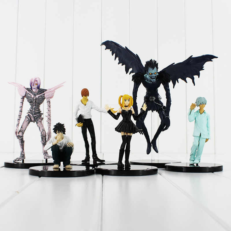 7-23cm 6pcs/lot Anime Cartoon Death Note L Killer Ryuuku Rem Misa Amane PVC Action Figure Model Toys Doll Free Shipping