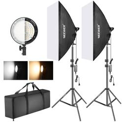 Neewer Photography Bi-color Dimmable LED Softbox Lighting Kit:20x27 inches Studio Softbox, 45W Dimmable LED Light Head