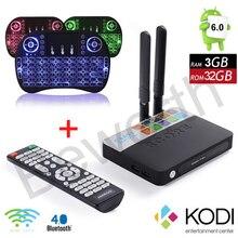CSA93 Amlogic S912 Окта основные 3 ГБ RAM 32 ГБ Android 6.0 TV Box BT4.0 2.4/5.8 Г Двойной Wi-Fi H.265 4 К 1000 М Meida Плеер + i8 С Подсветкой