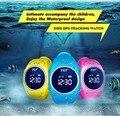 IP68 À Prova D' Água Profissional, Seguro Inteligente WIF GPS LBS Localização Localizador Rastreador para o Miúdo Criança Relógio relógio de Pulso Monitor de Oled Tela